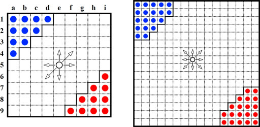 Checkers game printable template pictures to pin on for Chinese checkers board template